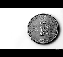 Live Free Or Die - United States New Hampshire Quarter Coin by © Sophie W. Smith