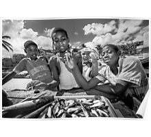 St Lucia, Dennery Fishing Village Poster