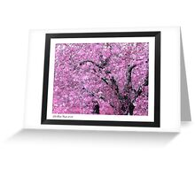 """Pink Apple Blossoms on the Ridge"" Greeting Card"