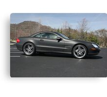 2003 MBZ SL500 Matte Black Finish Canvas Print