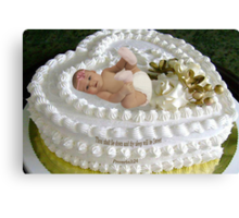 ㋡ SWEET BABY CAKE WITH BIBLICAL SCRIPTURE ㋡ Canvas Print