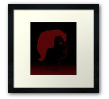 Woman- Red and Black  Framed Print