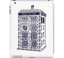 BAD WOLF TARDIS iPad Case/Skin