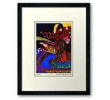 Night Came Creeping Over the Castle Framed Print