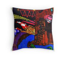 Night Came Creeping Over the Castle Throw Pillow