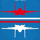 No128 My TOP GUN minimal movie poster by Chungkong