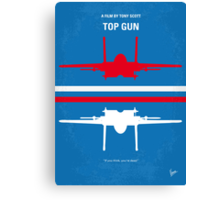 No128 My TOP GUN minimal movie poster Canvas Print