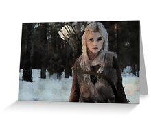 Alfar - Elf Archer Fantasy Digital Art Greeting Card