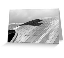 The curve of the roof Greeting Card