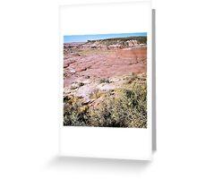 Painted Desert #4, November 2012 Greeting Card