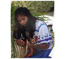 Young Indian Musician - Joven Música Indigena Poster