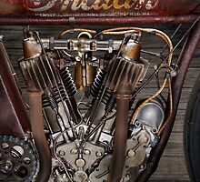 Indian Board Tracker Original and Unrestored Engine by Frank Kletschkus