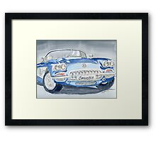 Corvette Blue Framed Print
