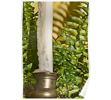 Fern and Candle Stick Poster