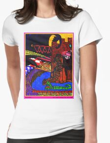 Night Came Creeping Over the Castle Womens Fitted T-Shirt