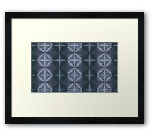 Blue Diamonds Framed Print