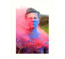 Powder Paint Festival Print Art Print