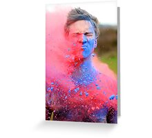 Powder Paint Festival Print Greeting Card
