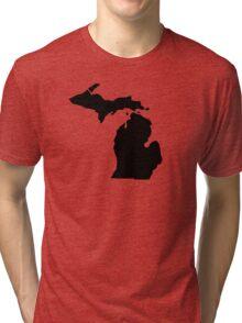 American State of Michigan Tri-blend T-Shirt
