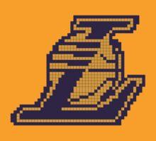 Lakers Logo 8-BIT by nickhilldesilva