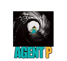 phineas and ferb perry the platypus agent p Photographic Print