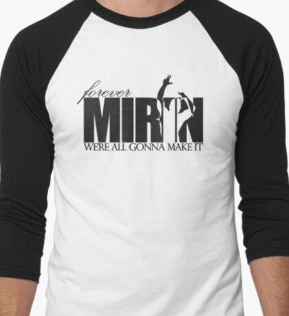 Forever Mirin (version 2 black) Men's Baseball ¾ T-Shirt
