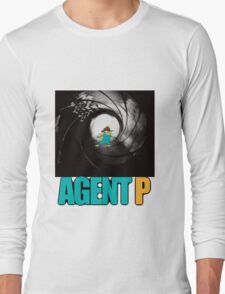 phineas and ferb perry the platypus agent p Long Sleeve T-Shirt