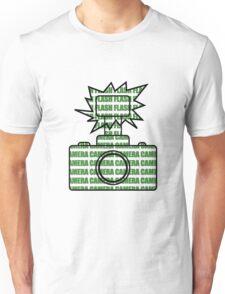 Camera SLR Flash_Green T-Shirt