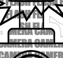 Camera SLR Flash_Grey Sticker