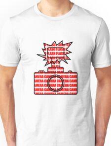 Camera SLR Flash_Red T-Shirt