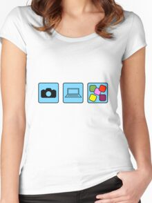 Camera Production Women's Fitted Scoop T-Shirt