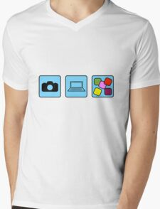 Camera Production Mens V-Neck T-Shirt