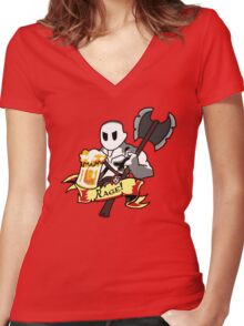 Roll for Rage! Women's Fitted V-Neck T-Shirt