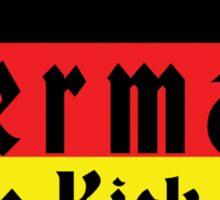 German Girls Kick Ass Sticker