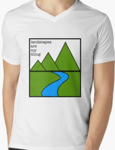 Landscapes are my thing Mens V-Neck T-Shirt