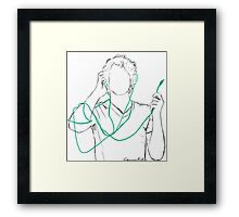 Tangled Headphones Framed Print
