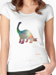 Space Diplodocus T-shirt Women's Fitted Scoop T-Shirt