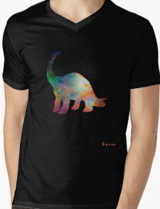Space Diplodocus T-shirt Mens V-Neck T-Shirt