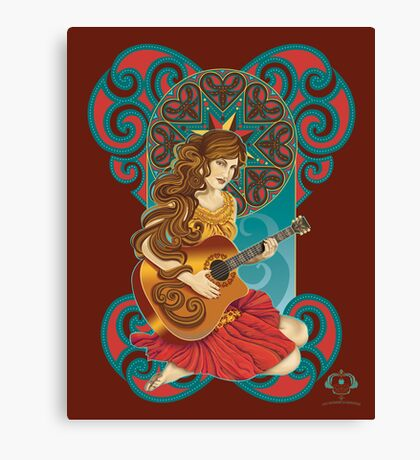 Acoustic Girl Canvas Print