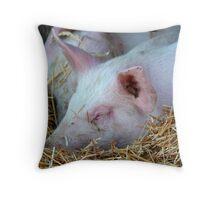 Little Piggies Throw Pillow