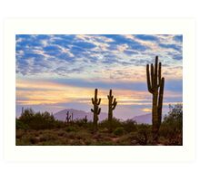 Just Another Colorful Sonoran Desert Sunrise Art Print