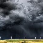 Storm Clouds Saskatchewan wind farm Swift Current Canada by pictureguy