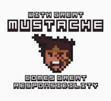 Draven says: With Great Mustache Comes Great Responsibility One Piece - Long Sleeve