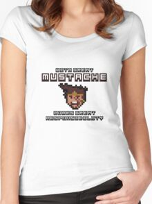 Draven says: With Great Mustache Comes Great Responsibility Women's Fitted Scoop T-Shirt