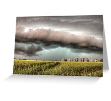 Storm Clouds Saskatchewan over planted wheat fields Greeting Card