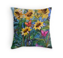 Flight of the Whimsical Butterfly Throw Pillow