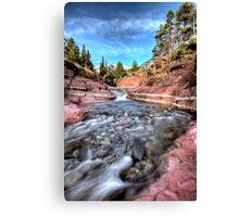 Red Rock Canyon Waterton Park Canada Alberta Canvas Print