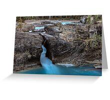 Natural Bridge Yoho National Park British Columbia Canada Greeting Card