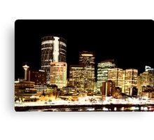 Night Shots Calgary Alberta Canada Canvas Print