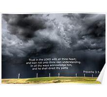 Proverbs Storm Clouds Saskatchewan Poster
